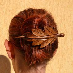 leaf-wood-hair-accessories-wooden-shawl-pin-mom-wife-gift-hair-stick-barrette-haarstab-wood-carving-leaf-hair-barrette-wood-leaf.jpg (900×900)