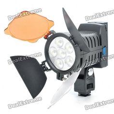 920Lux 6-LED Luz de vídeo para cámara / videocámara SKU: 91773 (Añadido el 10/08/2011) Precio: US$  68,90 Envío: Envío Gratis A SPAIN Entrega: Normalmente se entrega de 7 a 10 días laborables
