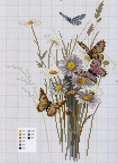 """Милые сердцу штучки: Вышивка крестом: """"Нежные цветы весны и лета"""""""