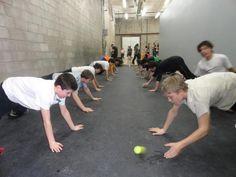 A fun game of plank hockey