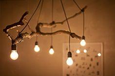 branch lamp #decor #DIY