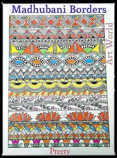How to draw madhubani design2238