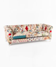This Cream & Red Patchwork Boho Sofa by Control Brand is perfect! #zulilyfinds