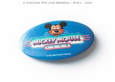 Mickey Mouse Club button Walt Disney by Vintage Pin And Brooch on Etsy
