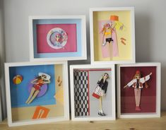 My paper ladies in shadow boxes! | Chloé Fleury