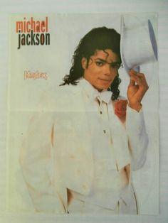 Michael Jackson Double Side Mini Poster 1980's Greek Magazine | eBay