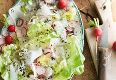 Rettich-Kohlrabi-Salat mit Kräuter-Rahmdressing Dressing, Potato Salad, Potatoes, Vegan, Ethnic Recipes, Food, Salads, Easy Meals, Potato