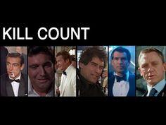 FILM COUNTS - James Bond Kill Count - YouTube
