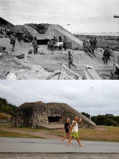les-plages-du-d-day-en-1944-et-maintenant-9 Les plages du D-Day en 1944 et maintenant