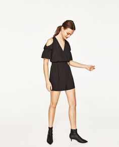 Image 1 of CUT OUT SHOULDERS JUMPSUIT from Zara