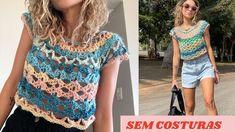 Crochet Top, Youtube, Alice, Women, Fashion, Crochet Coat, Crochet Blouse, Rope Jewelry, Crochet Storage