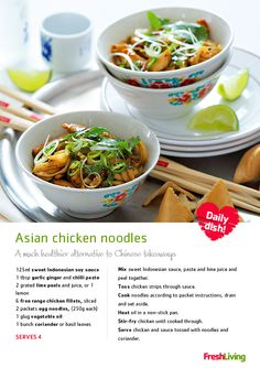 Join the New Year festivities with authentic Chinese all the way from Pick n Pay. are quick & easy to make! Group Meals, Group Recipes, Real Chinese Food, Asian Recipes, Chinese Recipes, Chinese Takeaway, Chicken Noodles, Asian Noodles, Asian Chicken