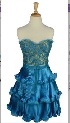 Betsey johnson blue lace dress
