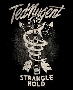 TED NUGENT by Fermin Mata #graphic #design #illustration