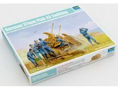 The Trumpeter 1/35 German Flak 43 37cm Zwilling Model Kit from the plastic military model kits range accurately recreates the real life German WWII era flak gun.