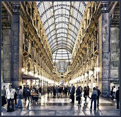 | ♕ |  Milan Galleria concourse  | by © Bert Kaufmann | via ysvoice