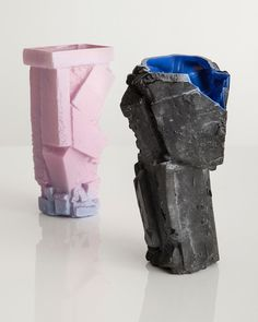 W''s features director loves these sharp vessels from Brooklyn artist Thaddeus Wolfe.