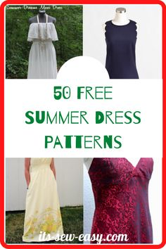 Summer provides the perfect opportunity and weather for you to showcase your sewing creativity. All you need are a few summer dress sewing patterns to get you started. Here are some great options. These patterns are handy when upgrading old and boring dresses. With patterns like these, you can deliver a long dress that is perfect for summertime outings and parties. #summerdresses#summerdresspatterns#freepatterns#easysewing#sewingathome#freesewingpattern Summer Dress Patterns, Dress Sewing Patterns, Summer Dresses, Bare Back Dress, Stunning Summer, Scalloped Dress, Free Summer, Dress Tutorials, Flattering Dresses