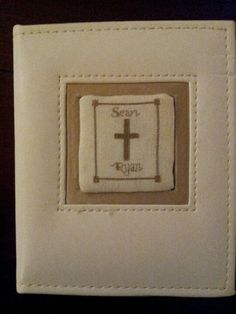 Cross stitched Baptismal Book