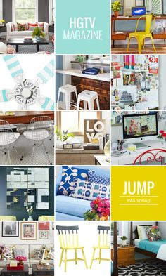 So many ideas I want to do from HGTV Magazine New Creation In Christ, Hgtv Magazine, Interior Design Inspiration, Vignettes, Townhouse, Sweet Home, Gallery Wall, Yard, Craft Ideas