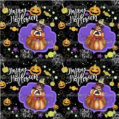 Jack O Man 3 - Halloween Pattern | Art Licensing©Sheena Pike Artwork by Canadian Illustrator . the Artwork on this board is ©Copyright of Sheena Pike any selling reproducing or claiming of my work as their own without my permission will result in legal action. The artwork in my gallery and on this board are the property of Sheena Pike for licensing inquiries contact my agent at artlicensing.com #artlicensing #Halloween #Pumpkin #HappyHalloween #Pattern #Candy #Autumn #Seasonal