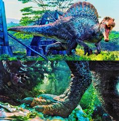 Prehistoric Wildlife, Spinosaurus, Jurassic Park World, Dinosaur Art, Survival, Godzilla, Unique, Extinct Animals, Animales