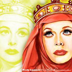 #hedylamarr #art #arthedylamarr #хедиламарр #портрет #beautiful #hedylamarrart #artist #instaartist #instaart #рисунок  #oldhollywood #goldenage #vintage #vintagewoman #звезда #кинодива
