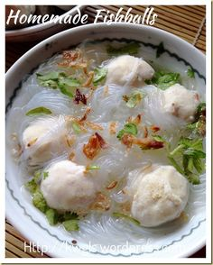 Homemade Fish Balls (传统自制鱼丸)with glass nooodles #Asian #Chinese #Taiwanese