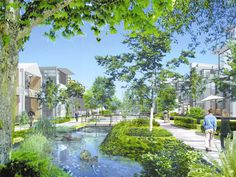 Dockside Green is slated to be North America's first carbon-neutral community.  Victoria BC  Image courtesy of Dockside Green