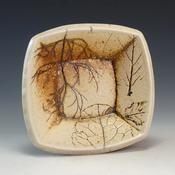 Marvin Bjurlin Marvin Bjurlin - Small Square Bowl - Crimson Laurel Gallery
