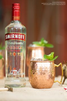 Break out your copper mugs and mix up a Moscow Mule the same way the very first was made - with Smirnoff vodka. Recipe: 1.5 oz Smirnoff Vodka, 3 oz Ginger Beer and Lime