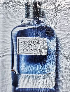 Perfume in water, Gentleman only, Givenchy Perfume Ad, Solid Perfume, Perfume Bottles, Harpers Bazaar, Perfume Display, Perfume Recipes, Still Photography, Product Photography, Perfume Making