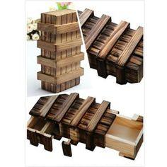 Advertisement - Kids Child Magic Compartment Wooden Puzzle Toy Box W/ Secret Drawer Brain Teaser Wooden Puzzle Box, Wooden Puzzles, Wooden Boxes, Japanese Puzzle Box, Diy Wood Box, Mind Puzzles, Hidden Compartments, Secret Compartment, Special Gifts For Her