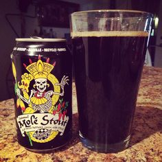 Ska Brewing Mole Stout - ale brewed with peppers, cocoa, and spices