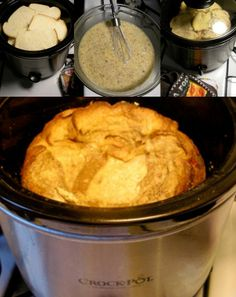 Crock Pot French Toast - It'll be fluffy in the morning, and that smell.... mmmm.... :)