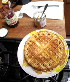 Sour Cream Waffles   airy and delicious. Sour cream does the work of the buttermilk for this recipe.   Made it! Easy and tasted great.