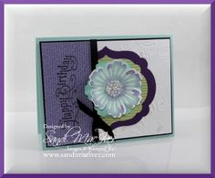 another card I created last month while putting together the new tutorial, loving the Mixed Bunch Stamp set and matching Blossom Punch