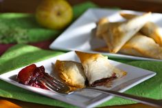 For a sweet dessert, try Chocolate Samosas with Pear-Cherry Chutney. This is easy to make and a delightful dessert served warm.