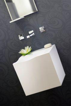 SWS1 sink , custom. Material: Corian. Environment type: half bathroom