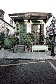 Faubourg Marigny, a hidden gem in NOLA. Just slightly north east of the tourist laden French Quarter. Great Jazz venues and quieter side of the city.
