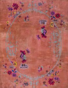 "#107 Chinese Art Deco carpet  9'0"" x 11'6""  circa 1920"