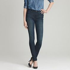J Crew Tall high waisted skinny jeans