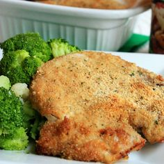 Breaded Ranch Pork Chops Recipe Main Dishes with bone-in pork chops, ranch dressing, Italian seasoned breadcrumbs, grated parmesan cheese