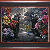 Alice in Wonderland ''In the Garden'' Giclée on Canvas by Rodel Gonzalez