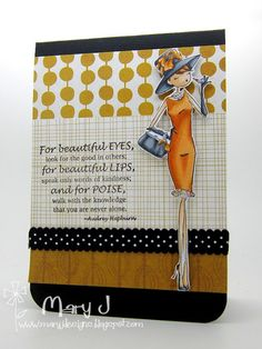 Uptown Girl Audrey loves her makeup Stamping Bella Mary Johnson