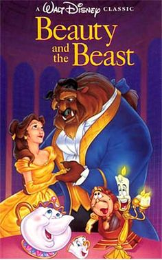Disney 90s Movies Poster | Beauty and the beast – 1991 – English: