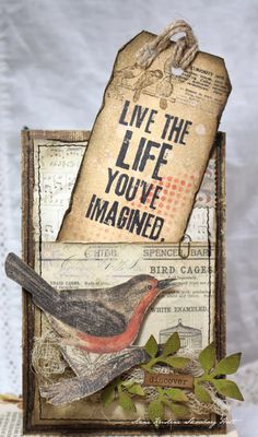 Anne's paper fun: Live the life you've imagined. (Use Pockets n Tags) Card Making Inspiration, Making Ideas, Style Inspiration, Card Tags, Gift Tags, Scrapbooks, Pocket Letters, Scrapbook Embellishments, Journal Cards