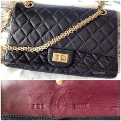 Chanel Reissue 2.55 from 2005 (anniversary of original created by Gabrielle Chanel in 1955)