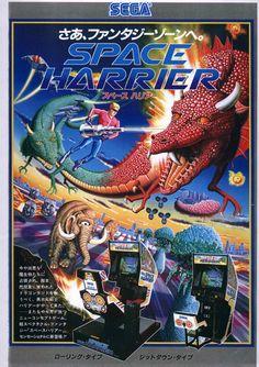 Space Harrier (1985, Japan)   sega arcade video game flyer