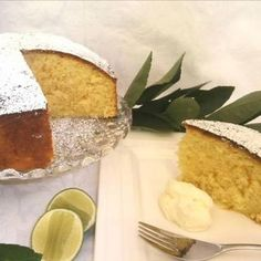 Lime and Olive Oil Coconut Cake Golden Syrup Pudding, Self Saucing Pudding, Olive Oil Cake, Baking Tins, Moist Cakes, Round Cakes, Cake Recipes, Lemon Recipes, Baking Recipes